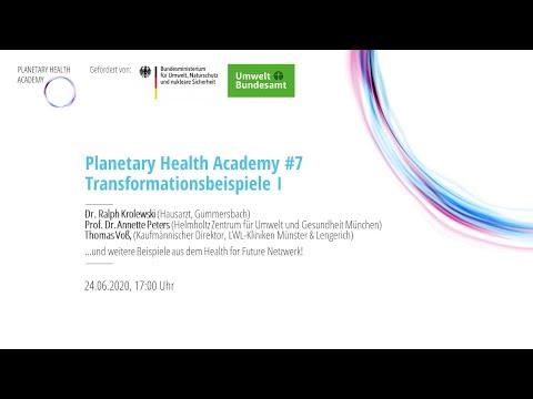 Beispiele für Transformatives Handeln, Teil 1 (Planetary Health Academy)