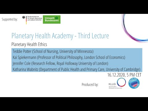 Lecture #3 - Planetary Health Ethics
