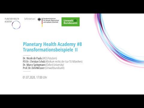 Beispiele für Transformatives Handeln, Teil 2 (Planetary Health Academy)